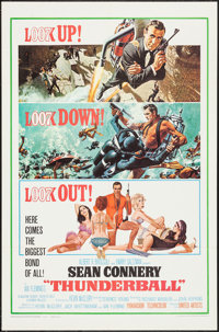 "Thunderball (United Artists, 1965). One Sheet (27"" X 41"") Cut Backpack Style. James Bond"