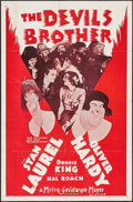 "Movie Posters:Comedy, The Devil's Brother (MGM, R-1954). One Sheet (27"" X 41""). Comedy....."