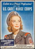 "Movie Posters:War, World War II Propaganda (U.S. Government Printing Office, 1944).Cadet Nurse Corps Recruitment Poster (14.25"" X 20""). War.. ..."