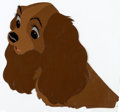 Animation Art:Production Cel, Lady and the Tramp Lady Production Cel (Walt Disney,1955)....