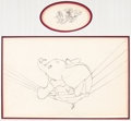 Animation Art:Production Drawing, Dumbo Dumbo and Crows Animation Drawing Group of 2 (WaltDisney, 1941).... (Total: 2 Original Art)