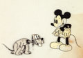 Animation Art:Color Model, Mickey Mouse and Pluto Color Model Cel Setup (Walt Disney,1930s)....