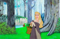 Animation Art:Production Cel, Sleeping Beauty Briar Rose Production Cel and Hand-PaintedBackground Setup (Walt Disney, 1959)....