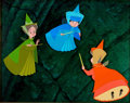 Animation Art:Production Cel, Sleeping Beauty Fairy Godmothers Production Cel Setup (WaltDisney, 1959)....