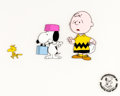 Animation Art:Production Cel, Peanuts Snoopy Come Home Charlie Brown, Snoopy, andWoodstock Production Cel Setup (Bill Melendez, 1972)....