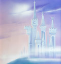 Animation Art:Production Drawing, Cinderella's Castle - Disneyland Hotel Hall of Princesses PaintingOriginal Art (Walt Disney, c. 1990s)....