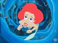 Animation Art:Production Cel, The Little Mermaid Ariel Production Cel (Walt Disney,1989)....