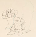 Animation Art:Production Drawing, Snow White and the Seven Dwarfs Bashful Animation Drawing(Walt Disney, 1937)....