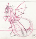 Animation Art:Production Drawing, Sleeping Beauty Maleficent in Dragon Form Animation Rough Drawing (Walt Disney, 1959)....