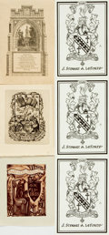 Books:Americana & American History, [Bookplates]. Group of Six. Various publishers and dates, [circa1931 - 2000]. . ...
