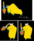 Animation Art:Production Cel, City Slickers Title Production Cel and Matching DrawingGroup of 5 (Bob Kurtz and Friends, 1991).... (Total: 5 OriginalArt)