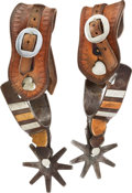 Western Expansion:Cowboy, Remounted Flying Nelly Spurs by Kelly Brothers....