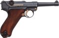 Handguns:Semiautomatic Pistol, DWM 1911 Luger Semi-Automatic Pistol with Leather Holster....