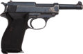 Handguns:Semiautomatic Pistol, Walther Model P.38 Semi-Automatic Pistol with Leather Holster....