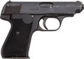 Handguns:Semiautomatic Pistol, J.P. Sauer & Sohn Semi-Automatic Pistol with Leather Holster....