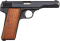 Handguns:Semiautomatic Pistol, FN Browning Semi-Automatic Pistol with Leather Holster....