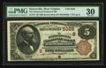 National Bank Notes:West Virginia, Sistersville, WV - $5 1882 Brown Back Fr. 474 The Farmers &Producers NB Ch. # (S)5028. ...