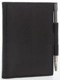 "Luxury Accessories:Accessories, Hermes Black Lizard Vision PM Agenda . Very Good Condition. 3"" Width x 4"" Height. ..."