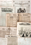 Books:Periodicals, [Newspapers, Periodicals]. Large Archive of ApproximatelyForty-Four Mostly Nineteenth-Century Newspapers and Periodicals.180...