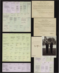 """A Superb Archive of 94 Items from Former California Governor Edmund G. """"Pat"""" Brown"""