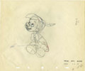 animation art:Production Drawing, Pinocchio Animation Production Drawing Original Art (Walt Disney, 1940)....