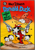 """Memorabilia:Disney, Carl Barks Comic Book Library Poster #4 """"Sheriff of Bullet Valley"""" Donald Duck Signed Limited Edition Poster #30/5..."""