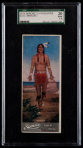 "Non-Sport Cards:Singles (Pre-1950), Rare 1920's E233 Samoset Chocolates ""Famous Indian Chiefs"" SamosetSGC 20 Fair 1.5. ..."