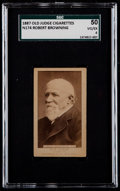Non-Sport Cards:Singles (Pre-1950), 1887 N174 Old Judge Robert Browning SGC 50 VG/EX 4. ...