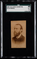 Non-Sport Cards:Singles (Pre-1950), 1887 N174 Old Judge Charles Stewart Parnell SGC 45 VG+ 3.5....
