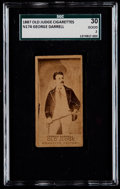 Non-Sport Cards:Singles (Pre-1950), 1887 N174 Old Judge George Darrell SGC 30 Good 2....