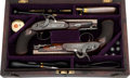 Handguns:Muzzle loading, Cased Pair of Percussion Pistols by James Wilkinson & SonLondon.... (Total: 2 Items)