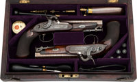 Cased Pair of Percussion Pistols by James Wilkinson & Son London