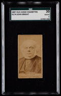 Non-Sport Cards:Singles (Pre-1950), 1887 N174 Old Judge John Bright SGC 30 Good 2....