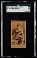 Non-Sport Cards:Singles (Pre-1950), 1887 N174 Old Judge Queen Liliuokalani Sand Islands SGC 45 VG+3.5....