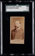"""Non-Sport Cards:Singles (Pre-1950), 1887 N174 Old Judge """"Prince of Wales"""" SGC 45 VG+ 3.5...."""