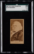 Non-Sport Cards:Singles (Pre-1950), 1887 N174 Old Judge William Thackeray SGC 45 VG+ 3.5....