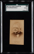 Non-Sport Cards:Singles (Pre-1950), 1887 N174 Old Judge Sir Thomas Spencer Wells SGC 55 VG/EX+ 4.5....