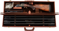 Cased Krieghoff Model 32 Over and Under Shotgun With Four Barrels