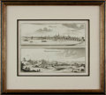 Books:Maps & Atlases, [Maps]. Johann Peeters. Framed Engraving Depicting Orleans and Montfort-L'Amavlery, in France. [n.d., circa 1657].. ...