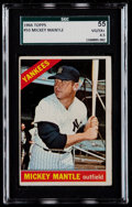 Baseball Cards:Singles (1960-1969), 1966 Topps Mickey Mantle #50 SGC 55 VG/EX+ 4.5....
