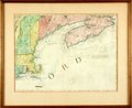 Books:Maps & Atlases, [Maps]. Eighteenth-Century Hand-Colored Engraved Map of New Englandand Nova Scotia. [N.p., n.d., Circa 1775]. . ...