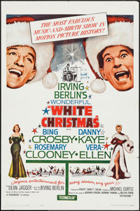 "White Christmas (Paramount, R-1961). One Sheet (27"" X 41""). Musical"