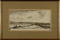 Books:Maps & Atlases, [Maps]. Framed Engraving Depicting Orleans and Rovanne, in France. [n.d., circa 1657].. ...