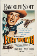 "Movie Posters:Western, Fort Worth (Warner Brothers, 1951). One Sheet (27"" X 41""). Western.. ..."