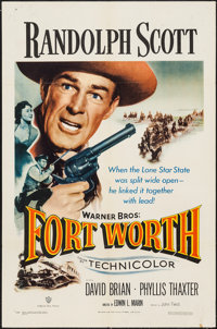 "Fort Worth (Warner Brothers, 1951). One Sheet (27"" X 41""). Western"