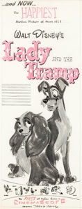 Animation Art:Concept Art, Lady and the Tramp Print Advertising Concept Art (WaltDisney, 1955)....