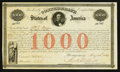 Confederate Notes:Group Lots, Ball 16 Cr. 4 $1000 1861 Bond Very Fine. . ...