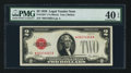 Small Size:Legal Tender Notes, Fr. 1501* $2 1928 Legal Tender Note. PMG Extremely Fine 40 EPQ.. ...