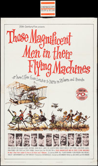 """Those Magnificent Men in Their Flying Machines (20th Century Fox, 1965). Roadshow One Sheet (27"""" X 41"""") 70mm T..."""