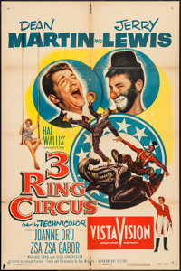 """3 Ring Circus & Other Lot (Paramount, 1954). One Sheets (2) (27"""" X 41""""). Comedy. ... (Total: 2 Items)"""